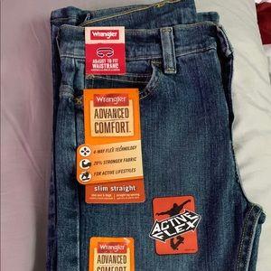 Wrangler Bottoms - Wrangler Jeans for Boys. Denim Blue. Size 10 & 14